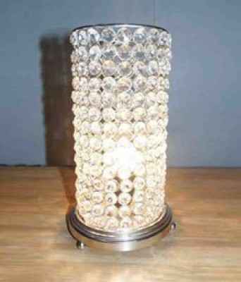 Brass Gift Center Round Base Crystal Beads Lamp Table Lamp