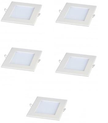 Megaway LED 12W Slim Panel Light Square Cool White 5 Pcs. Night Lamp