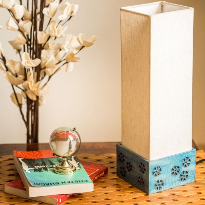 ExclusiveLane Wooden Carved Table Lamp