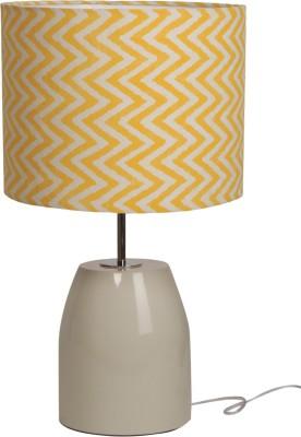 Bespoke Crafts HUMPTY OFF WHITE & YELLOW ZIGGY Table Lamp