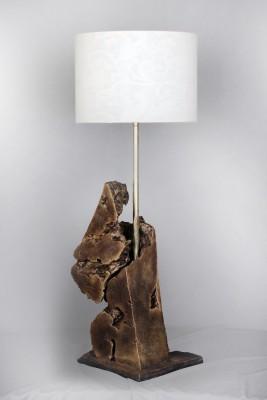 malji's driftwood art golden form Table Lamp