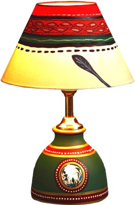 Aapno Rajasthan Hand Painted Terracotta Table Lamp