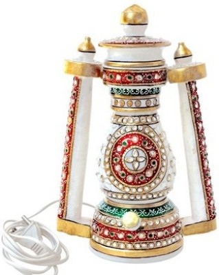 Handicrafts Paradise Handicrafts Paradise Marble Meena Work Lantern Cut Work Design Table Lamp