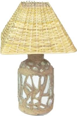 Aadhya Creations Bp Mosiac With Bamboo Shade Table Lamp