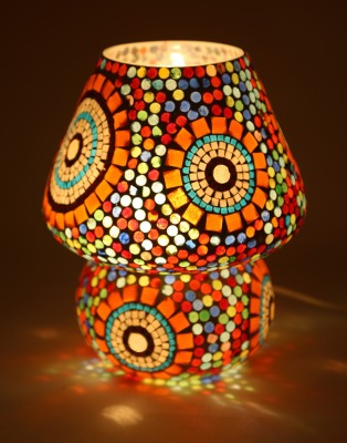 EarthenMetal Mosaic Style Dome Shaped Table Lamp