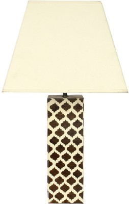 The Decor Mart Office and Home Table Lamp(60.96 cm, Brown, White)
