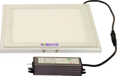 Renota Led Lightings Panel Light 15w Square Shape With Silver Frame Night Lamp