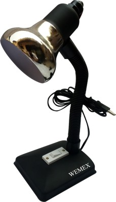 Wemex Youth S.Chrome Matte Black Reading & Studying Study Lamp