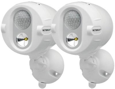 Mr Beams 200-Lumen Networked LED Wireless Motion Sensing Spotlight System with Net Bright Technology, White Night Lamp