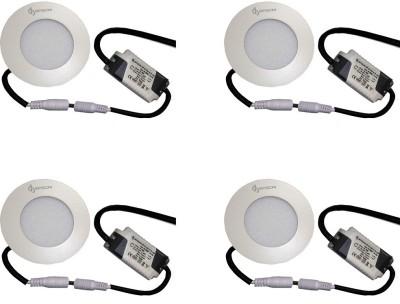 EPSORI 4Watt 6500k White Round Indoor Cosiva Led Down Light Set of 4 Night Lamp