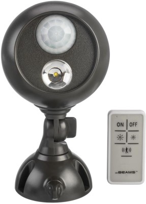 Mr Beams Wireless LED Remote Control Spotlight with Motion Sensor and Photocell Night Lamp