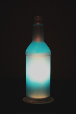 Kavi The Poetry Art Project Blue DIY Table Lamp