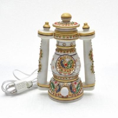 Ishita Handicrafts Designer Marble Table Lamp