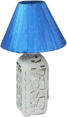 Aadhya Creations Rs Mosiac With Blue Shade Table Lamp