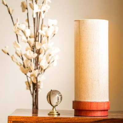 ExclusiveLane 14 Inch Wooden Table Lamp