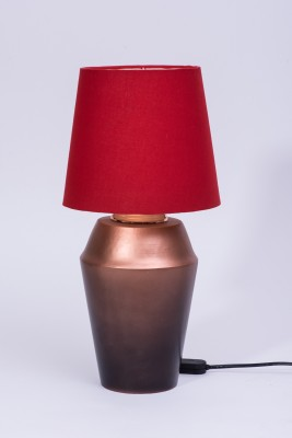Courtyards Jaipuri Gradiation With Red Shade Table Lamp