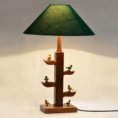 ExclusiveLane Tree Of Life Lamp With Parrots Sitting On It Table Lamp