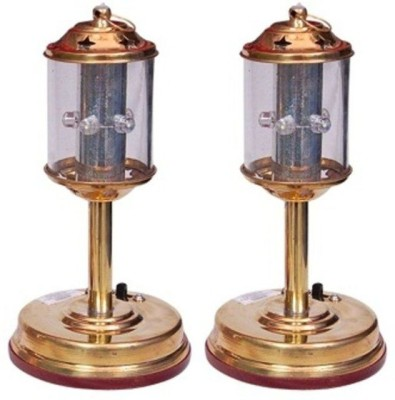 Onlineshoppee Fancy Electric Lantern Made Of Pure Brass Pack Of 2 Table Lamp
