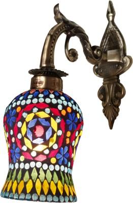 Weldecor Antiqua Brasso Mirror Work Night Lamp