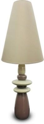 Calmistry Tall Brown Ceramic Table Lamp