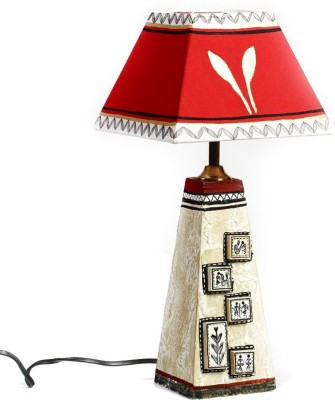 Aapno Rajasthan Hand Painted Shade With Terracotta Base Table Lamp