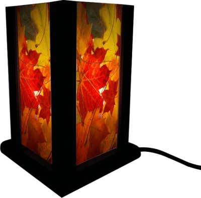 Huppme Gifts Red Leaves Table Lamp