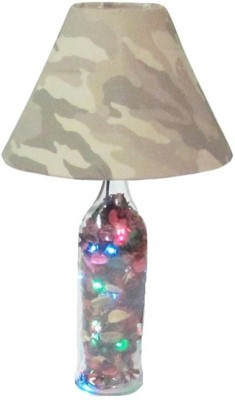 Aadhya Creations Gm Potpoori Led With Army Shade Table Lamp