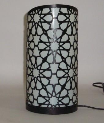 V Design N Decor Black with plain shade Table Lamp
