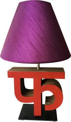 Sylvn studio Fascinating FA letter lamp purple Table Lamp