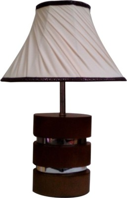 Diya Designs Wood & Chrome Finish Table Lamp