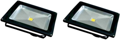 EPSORI 30 Watt Square Water Proof White Anox Led Flood Light set of 2 Night Lamp