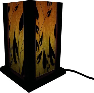 Huppme Gifts Black Leaf Table Lamp