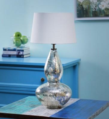 Ujjala Curved Gold Glass Bottle Table Lamp