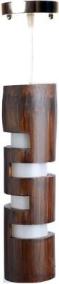 Art World Alternate Slit Brown Night Lamp