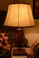 Yashasvi Yashasvi Drum Mild Cream Table Lamp Table Lamp(45 cm, Orange)