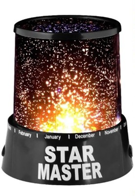 Inventure Retail Star Master Projector With Usb Wire Turn Any Room Into A Starry Sky(13.4 Cm,Black) Night Lamp