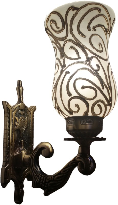 Weldecor Antiqua Brasso Golden Web Night Lamp(30 cm, Golden)