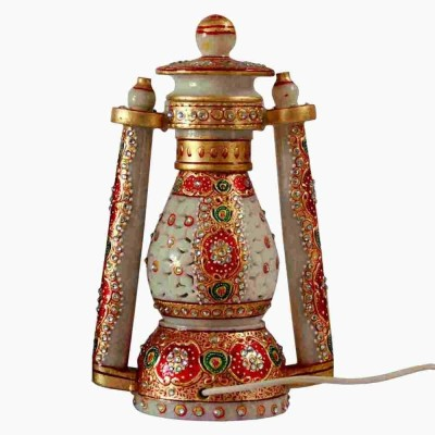 Villcart Rajasthani Marble Lantern Table Lamp