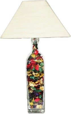 Aadhya Creations GL Color Leafy Off White Square Table Lamp