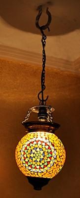 Lal Haveli Handmade Mosaic Art Hanging Glass Night Lamp