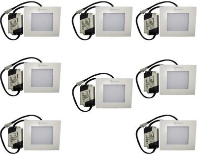 EPSORI 4Watt 6500k White Square Indoor Cosiva Led Down Light Set of 8 Night Lamp