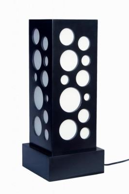 DecorNation Ambience Lighting & Circle Pattern Table Lamp
