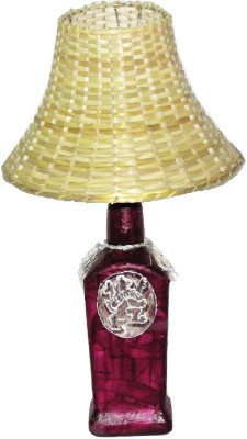 Aadhya Creations RC Purple Lion Bamboo Table Lamp
