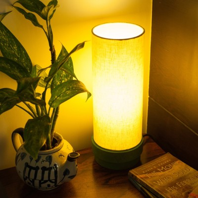 ExclusiveLane 14 Inch Wooden Handcrafted Table Lamp