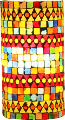 Brahmz Mossiac HandCrafted Table Lamp(8 inch, Multicolor)