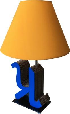 Sylvn studio Peaceful PRA letter Blue yellow Table Lamp