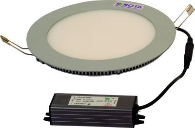 Renota Led Lightings Panel Light 12w Round Shape With Gray Frame Night Lamp
