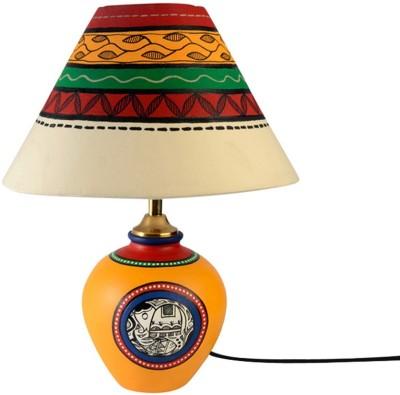 ExclusiveLane 13 Inch Madhubani Art With Matki Base Table Lamp