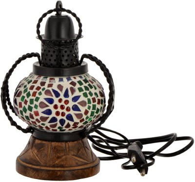 Shresth Lifestyles Multicolor Glass Table Lamp
