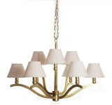 Adithya Lamps Coop Gold & White Chandeli...